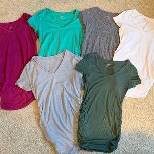Maternity V-neck tops - bundle of 6!